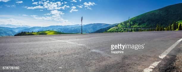 Road going through the mountains, Xinjiang, China