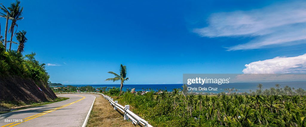 Road going to the beach in Sorsogon, Philippines : Stock Photo