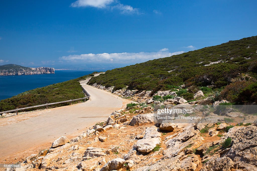 Road in Alghero, Sardinia : Foto stock