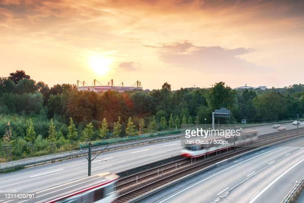road in front of stadium, signal iduna park, dortmund, germany - dortmund stad bildbanksfoton och bilder
