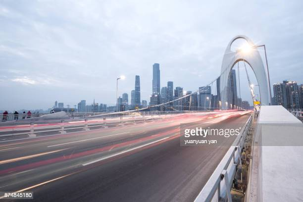road in guangzhou china - guangdong province stock photos and pictures