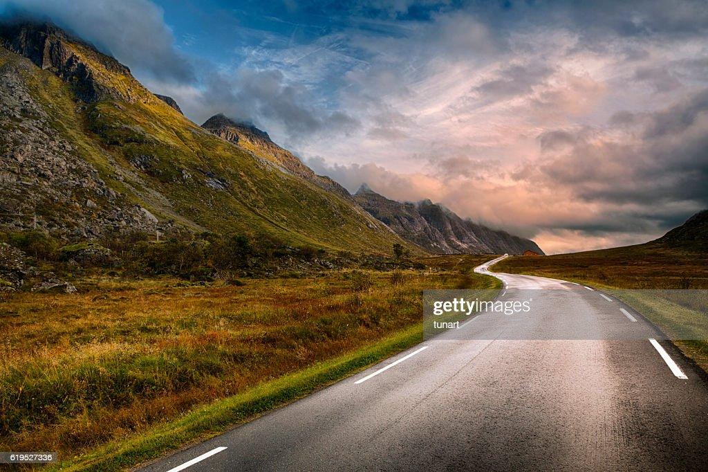 Road in Lofoten, Norway : Stock Photo