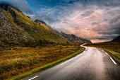 Road in Lofoten, Norway