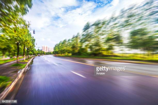 Road in motion in Country