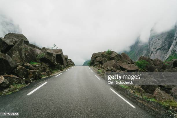 Road in  mountains in Norway