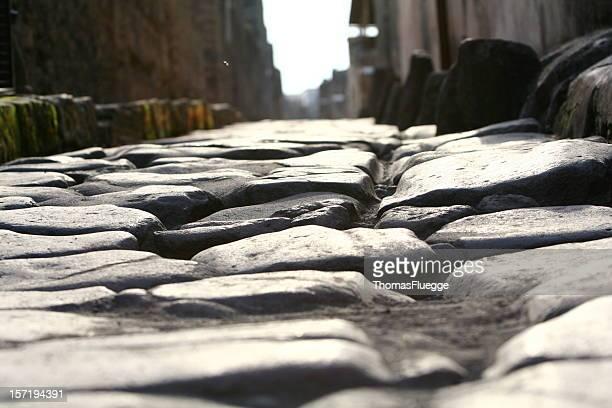 road en pompeji - pompeya fotografías e imágenes de stock