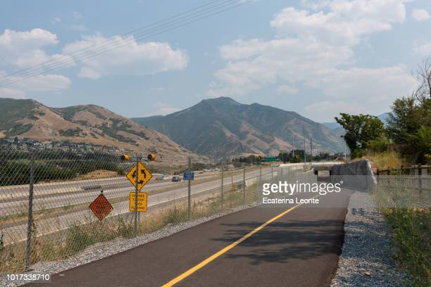 road in salt lake city - road salt stock pictures, royalty-free photos & images