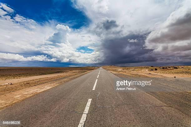 Road in the desert, Mongolia, Gobi