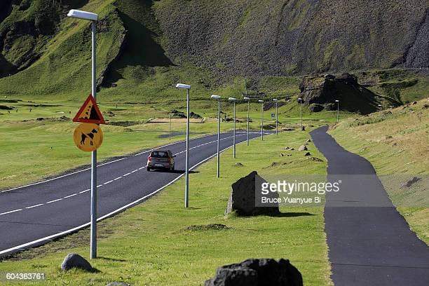 Road in the Herjolfur valley