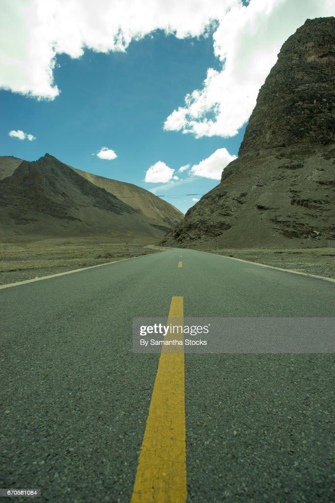 Road in Tibet : Stock Photo