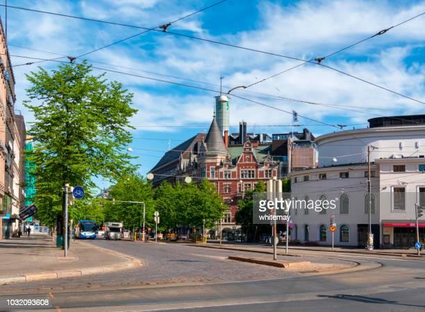 ヘルシンキ中心部の交差点