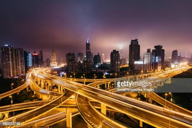 Road Intersection, Yan'an Bridge, Night