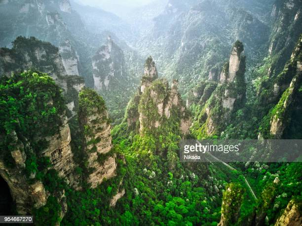 Road into Valley, Mountains in Zhangjiajie, China