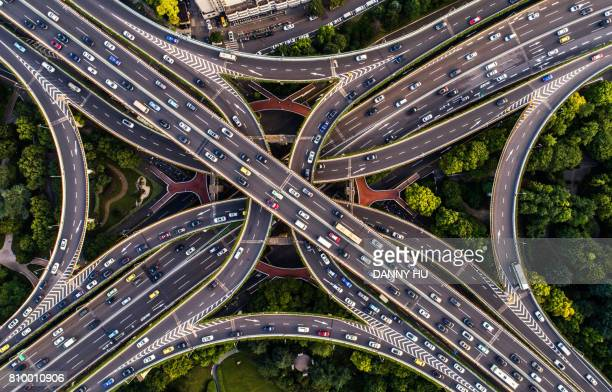 road junction in shanghai