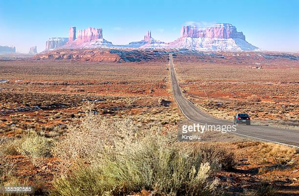 Road lead into Monument Valley