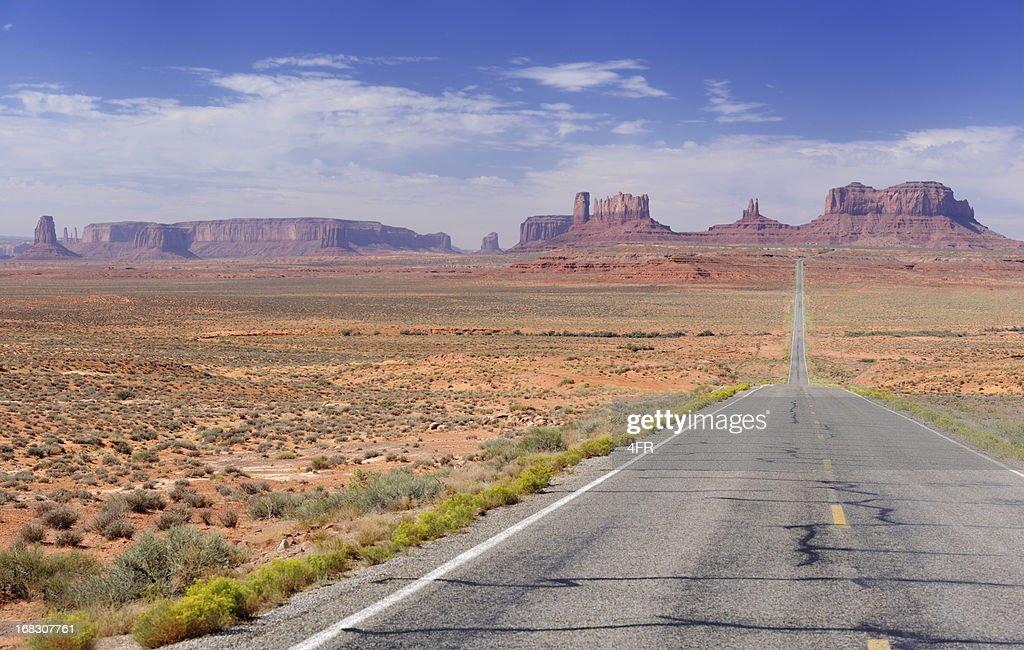 Road leading to Monument Valley (XXXL) : Stock Photo