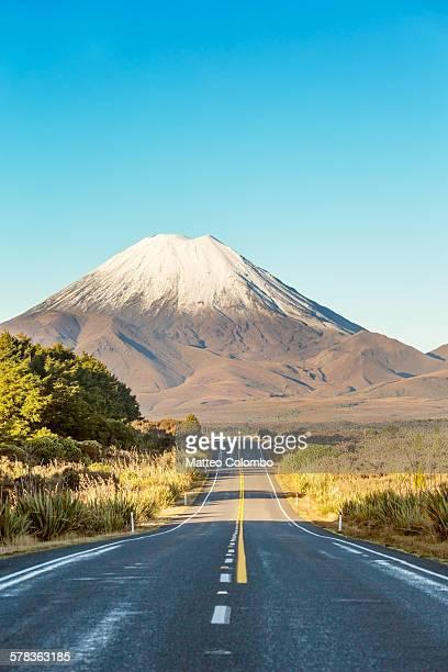 Road leading to Mount Ngauruhoe, New Zealand