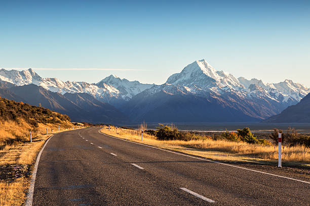 Road Leading To Mt Cook Mountain, New Zealand Wall Art