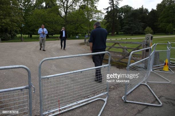 Road leading to St Mark's Church closed to public ahead of the Wedding of Pippa Middleton and James Matthews on May 19 2017 in Englefield Berkshire