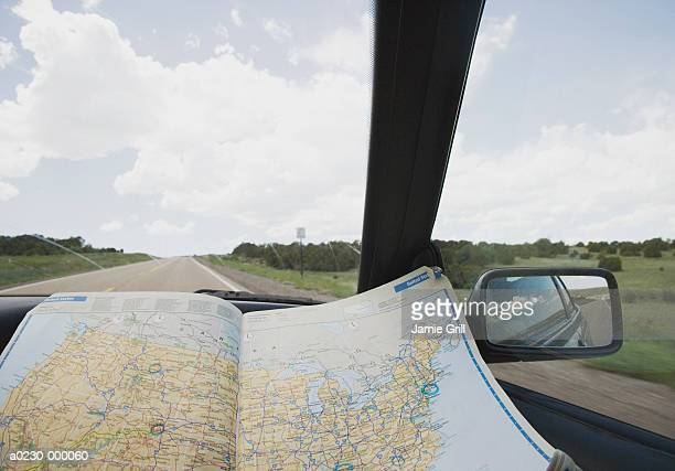 US Road Map on Dashboard