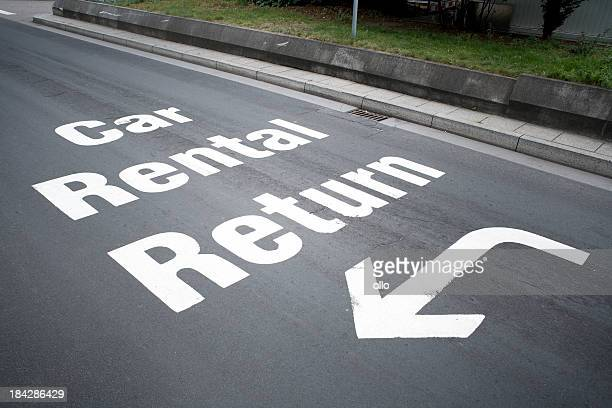 Road marking, car rental return