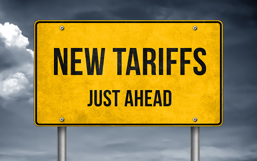 Road message - new tariffs just ahead 1148412278