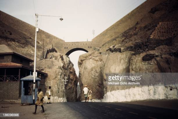 A road near a US Army Air Force base circa 1943 in Aden Yemen