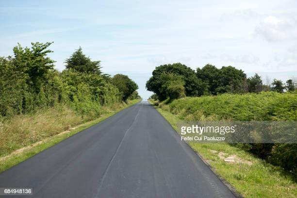 Road near Barfleur, Normandy Region, France