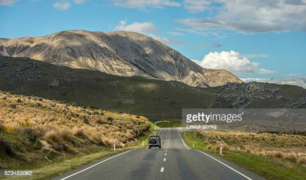 Road near Castle hills in New Zealand, South island