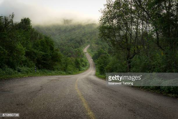 Road on mountain in country.