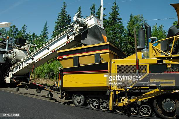 road paving - asphalt paving stock photos and pictures