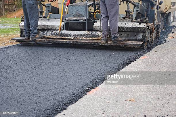 Road Paving with Asphalt