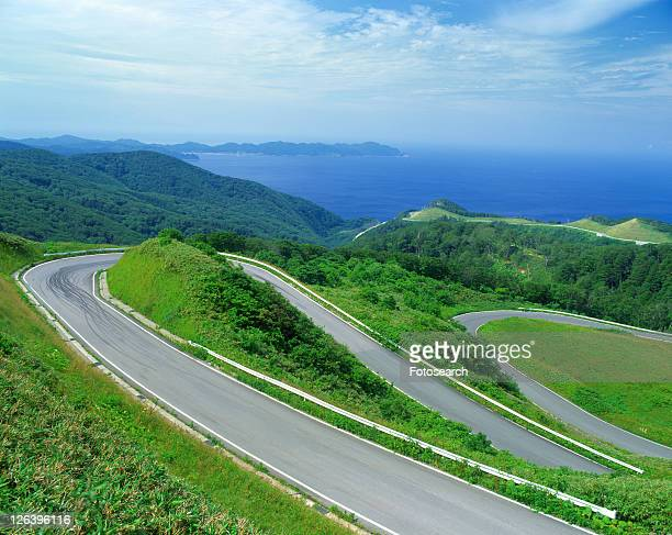 road - aomori prefecture stock pictures, royalty-free photos & images