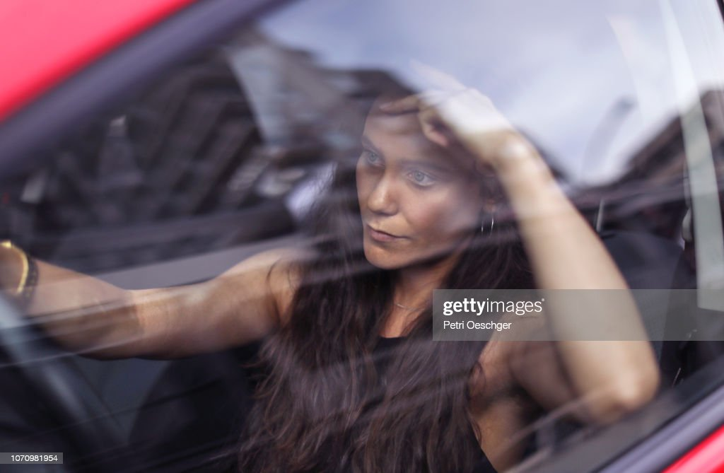 Road Rage. (Left hand drive) : Stock Photo
