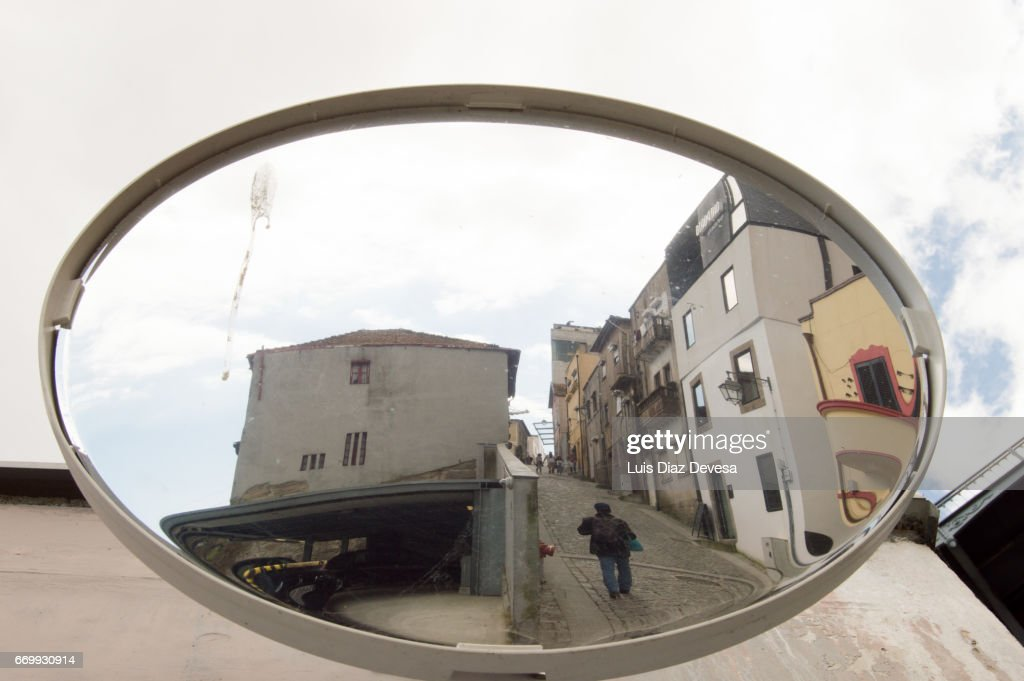 Road Reflecting On Mirror : Foto de stock