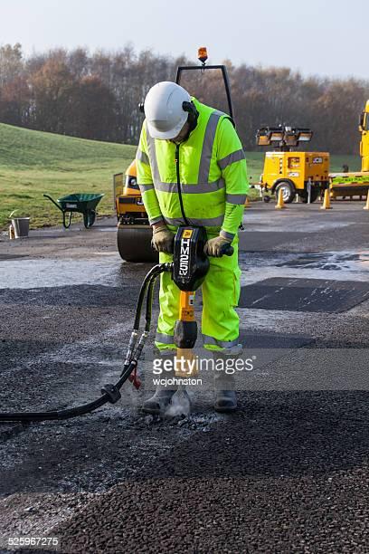 road repair - fur trim stock pictures, royalty-free photos & images