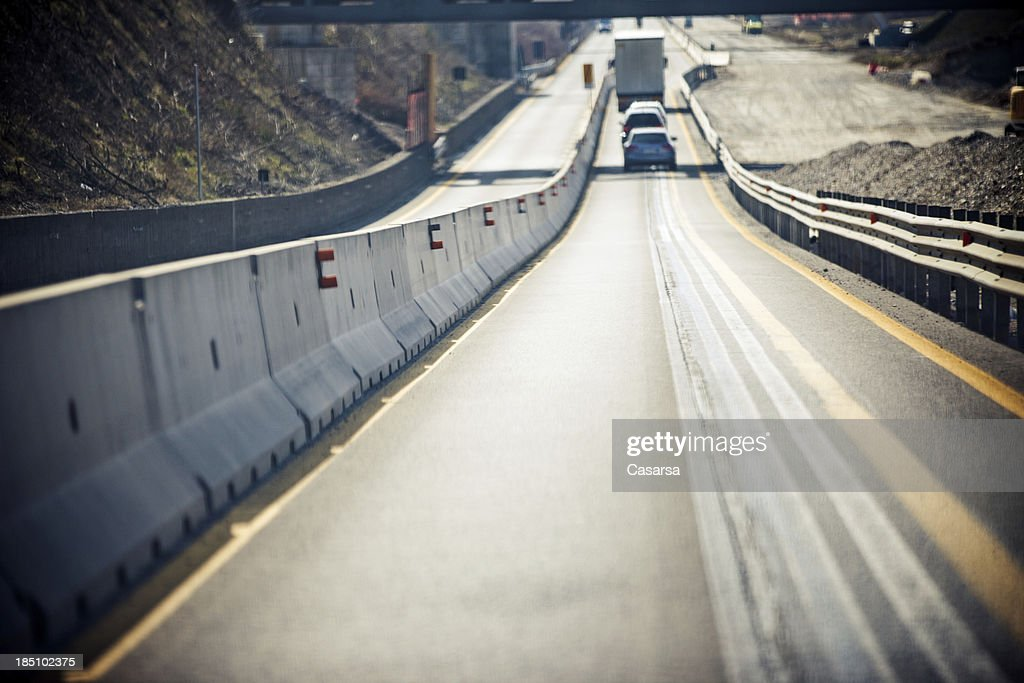 Road repairs : Stock Photo