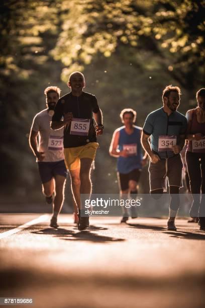 Road running race through nature!