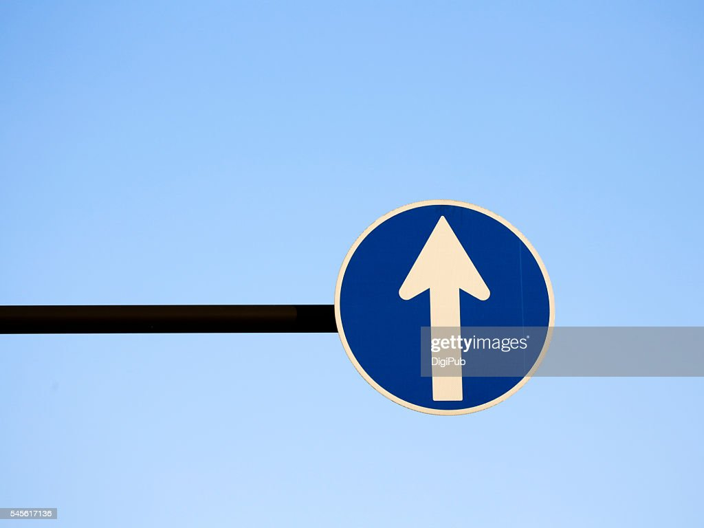 Road Sign Against Clear Sky : Stock Photo