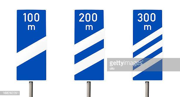 Road sign in german Autobahn-nächste Ausfahrt
