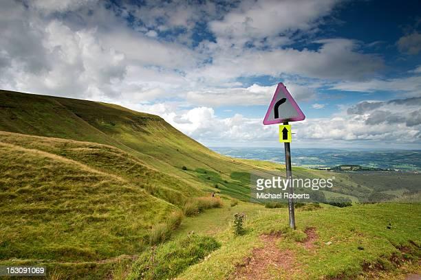 Road sign at Gospel Pass