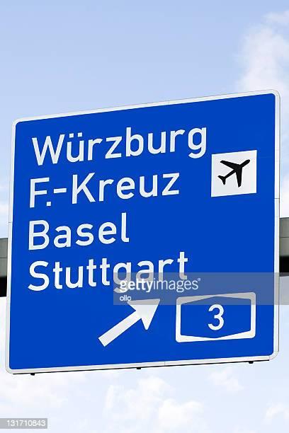 Road sign-Autobahn, deutsche Städte