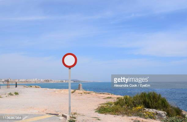 Road Sign By Sea