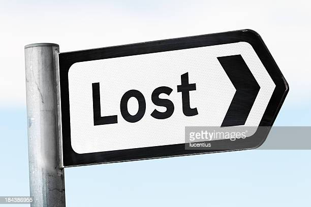 Road sign for Lost
