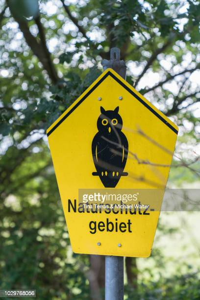 Road sign for nature conservation.