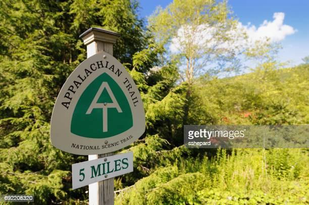 Verkehrszeichen für den Appalachian Trail
