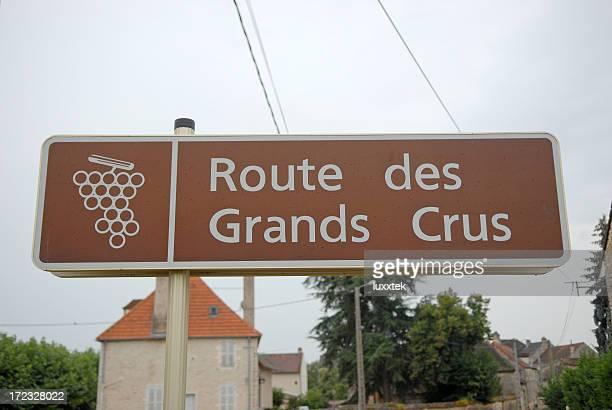 Road sign in Burgondy France