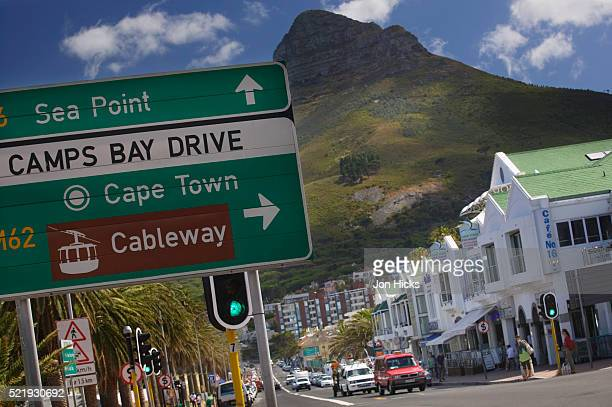 Road Sign in Camps Bay and Lion's Head