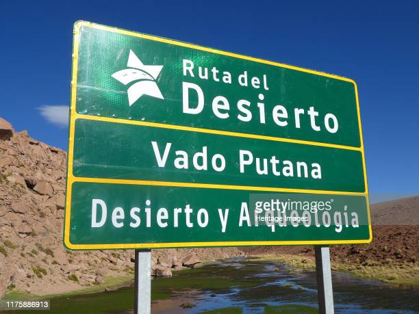 Road sign in Chile 2019