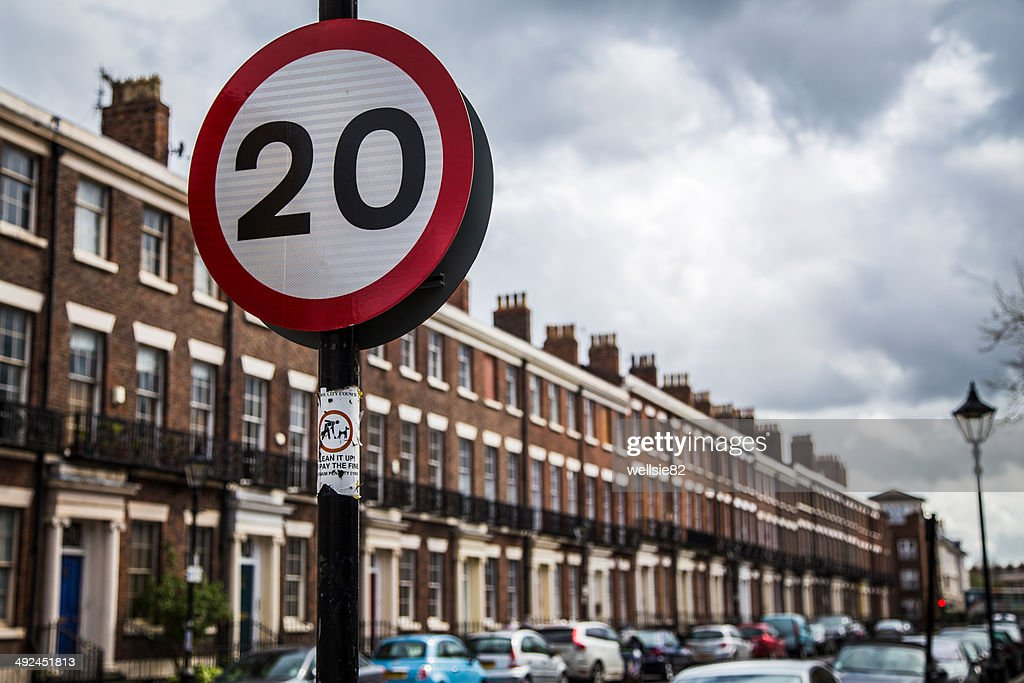 Road sign in Liverpool : Stock Photo